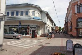 Julkisivu Kuninkaankadulle-Fasad mot Kungsgatan
