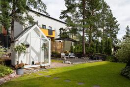 Kasvihuone takapihalla