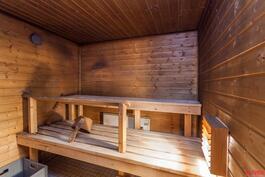 sauna alakerrassa