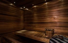 Sauna lämpökäsiteltyä haapaa
