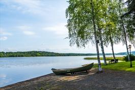 Näkymä järvelle Hämeenlinnan suuntaan