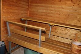 Tilava sauna.