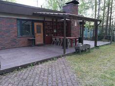 Iso patio takapihalla