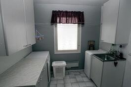 Kodinhoitohuone, jonka vieressä vielä yksi makuuhuone