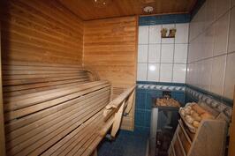 saunassa puu- ja sähkölämmitteinen kiuas