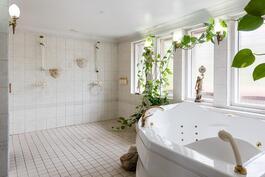Tilava kylpylä jossa poreamme.