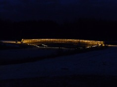 Iltanäkymä Korennonvirran sillalle