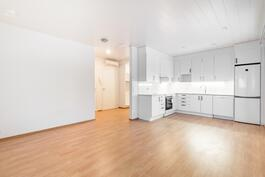 Olohuone-keittiö / Vardagsrum-kök