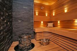 Ylellinen, rentouttava sauna