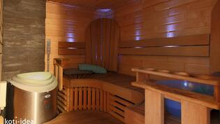 Sauna jossa hetivalmis -kiuas