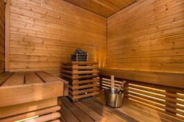 uusitussa saunassa pystykiuas