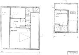 Yläkerta ja kellari pohjakuva