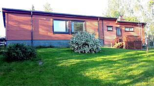 Talo takapihalta.