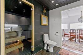 kylpyhuoneessa oma wc-istuin
