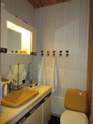 Molemmista kerroksista löytyy myös erillinen wc! Kuvassa II-kerroksen wc.