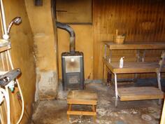 saunaosasto kellarissa kaipaa remonttia