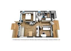 Rahkasarantie 22 A, pohja 3D-kuvana