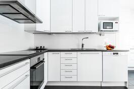 Tyylikäs remontoitu keittiö