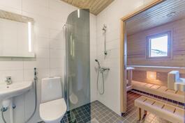 Valoisa wc / kph sekä sauna.