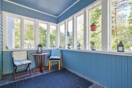 katettu terassi, veranta / täckt terrass, veranda