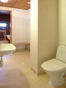 Wc, pesuhuone ja sauna.