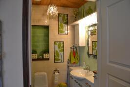 Erillinen wc kaapistoilla