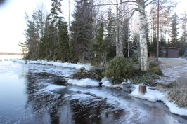 29.12.2015 järvi on juuri jäätynyt