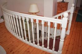 Näkymä portaikosta yläkerrassa