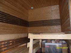 Alakerta. Tilava sauna
