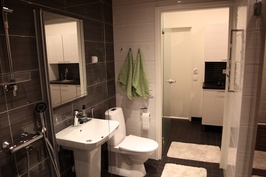 Pesuhuone - Pesuhuoneessa WC, käsienpesuallas sekä 2 suihkua
