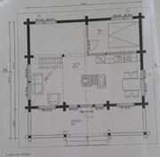 Päärakennuksen alakerran pohjapiirustus