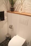 Erillinen WC, -tilaa säästävä istuin