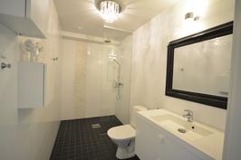 Esimerkkikuva tyylistä valmiista kohteestamme naapurissa. 1. krs WC + suihku