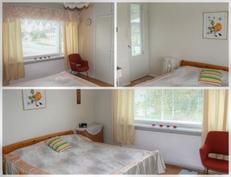 Makuuhuone (jossa ovi parvekkeelle)