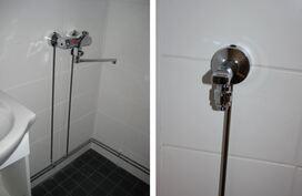 Kylpyhuone, vesikalusteet, laatat