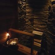 Sauna iltavalaistus