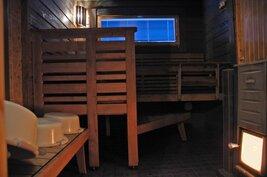Rantasaunan löylyhuone 1 (rakennuksessa 2 saunaa ja pukuhuonetta))