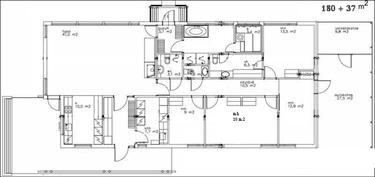Pohjaratkaisu, jossa 4 makuuhuonetta.