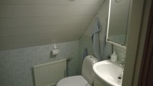 WC tila yläkerrassa