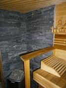 saunan kiviseinää
