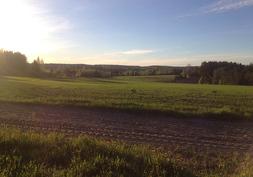 Harjoitusrata ja peltoa