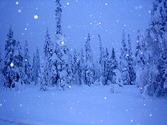 Sininen hämärä Rukan joulussa