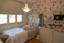 Perheen tyttären huoneessa pikkulinnut saavat vapaasti visertää - ainakin seinällä.