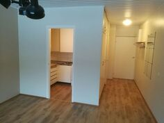 Kuvassa eteistila ja keittiökolmeron oviaukko