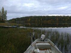 Näkymä venepaikalta avoveden suuntaan