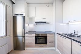 Remontoitu keittiö 2015