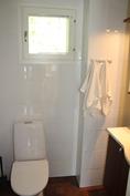 Yläkerran WC.