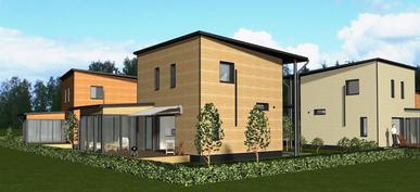 Talot A ja B Kivelänpuistosta / mallinnus