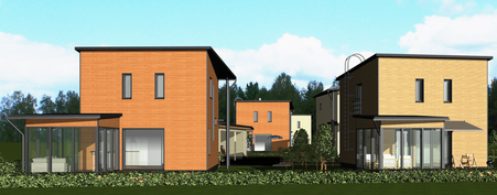 Talo A Kivelänpuistosta / mallinnus
