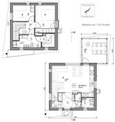 Pohjapiirrokset, talot A ja B